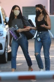Ashley Greene with Her Friend After Leaves a Studio in Hollywood 12/03/2020 2