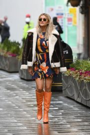 Ashley Roberts in Long Boots Leaves Heart FM in London 12/01/2020 1