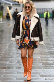 Ashley Roberts in Long Boots Leaves Heart FM in London 12/01/2020 5