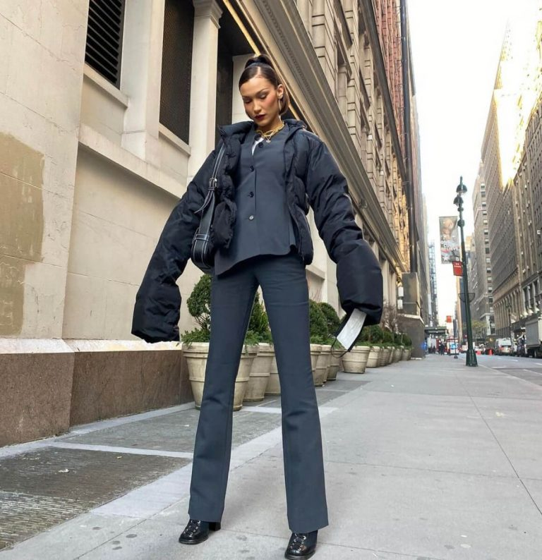 Bella Hadid in Fully Black Outfit - Instagram Photos 12/04/2020 2