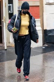 Bella Hadid in Yellow Top Out and About in New York 12/05/2020 2