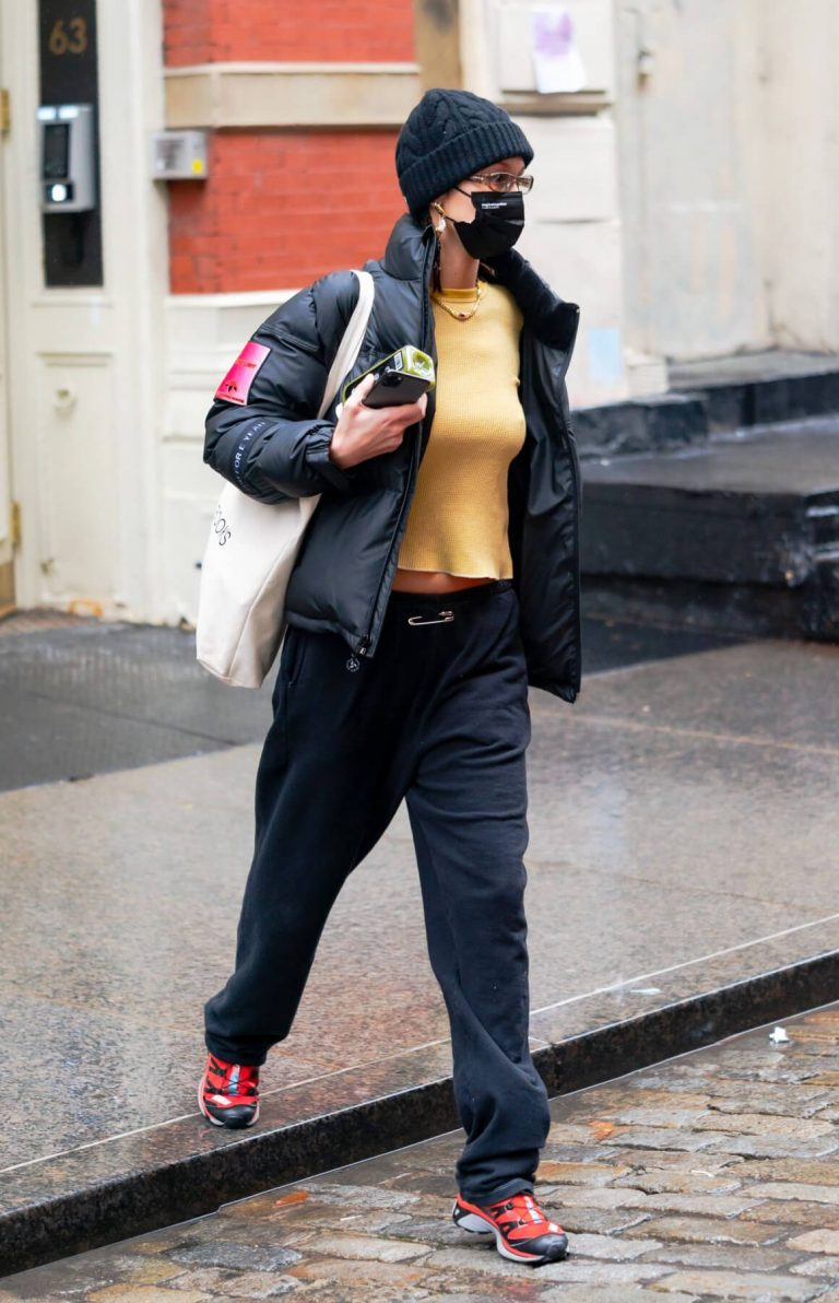 Bella Hadid in Yellow Top Out and About in New York 12/05/2020 3
