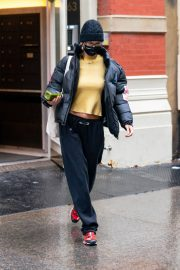 Bella Hadid in Yellow Top Out and About in New York 12/05/2020 4