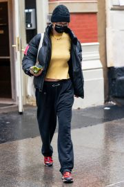Bella Hadid in Yellow Top Out and About in New York 12/05/2020 7