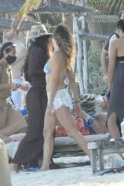 Brooke Burke in Bikini with her Boyfriend at a Beach in Tulum 11/28/2020 1