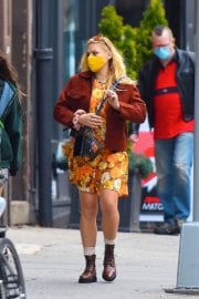 Busy Philipps in Floral Jumpsuit Out in New York 12/02/2020 2