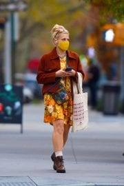 Busy Philipps in Floral Jumpsuit Out in New York 12/02/2020 3