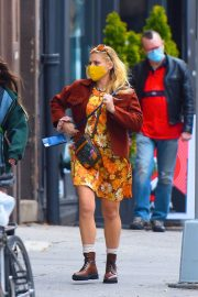 Busy Philipps in Floral Jumpsuit Out in New York 12/02/2020 6