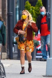Busy Philipps in Floral Jumpsuit Out in New York 12/02/2020 9