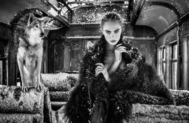 Cara Delevingne Black and White Photoshoot On the Road Again, 2020 2