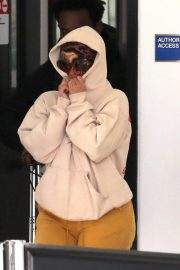 Cardi B seen in Full Face Mask at LAX Airport in Los Angeles 11/24/2020 1
