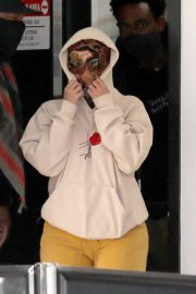 Cardi B seen in Full Face Mask at LAX Airport in Los Angeles 11/24/2020 6