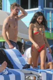 Chantel Jeffries in Printed Bikini at a Beach in Miami 12/05/2020 1