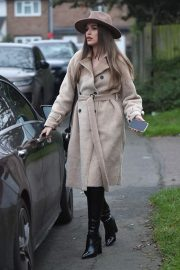 Chloe Ross in Long Coat with Boots After Leaves a Photoshoot in London 11/30/2020 3