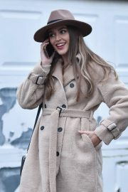 Chloe Ross in Long Coat with Boots After Leaves a Photoshoot in London 11/30/2020 5