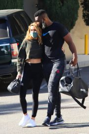 Chrishell Stause and Keo Motsepe Leaves a Gym in Beverly Hills 12/02/2020 3