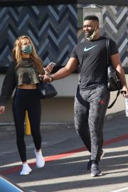 Chrishell Stause and Keo Motsepe Leaves a Gym in Beverly Hills 12/02/2020 4