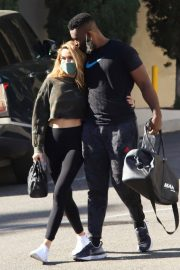 Chrishell Stause and Keo Motsepe Leaves a Gym in Beverly Hills 12/02/2020 7