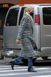 Daphne Groeneveld seen Long Coat after leaves for Lunch in New York 12/02/2020 2