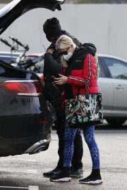 Denise van Outen in Double Puffer Jacket Out Shopping in Chelmsford 11/24/2020 4