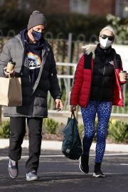 Denise van Outen in Double Puffer Jacket Out Shopping in Chelmsford 11/24/2020 5