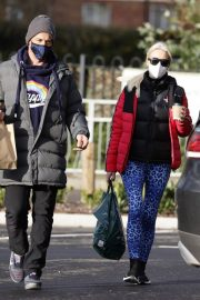 Denise van Outen in Double Puffer Jacket Out Shopping in Chelmsford 11/24/2020 6