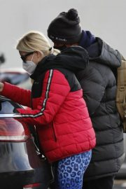 Denise van Outen in Double Puffer Jacket Out Shopping in Chelmsford 11/24/2020 7