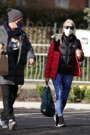 Denise van Outen in Double Puffer Jacket Out Shopping in Chelmsford 11/24/2020 8