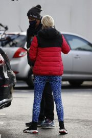 Denise van Outen in Double Puffer Jacket Out Shopping in Chelmsford 11/24/2020 9