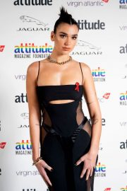 Dua Lipa in Black Stylish Outfit at 2020 Virgin Attitude Awards 12/02/2020 1