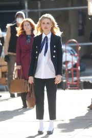Emily Alyn Lind on the Set of Gossip Girl in New York 11/24/2020 1