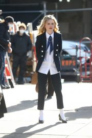 Emily Alyn Lind on the Set of Gossip Girl in New York 11/24/2020 2