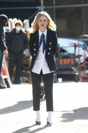 Emily Alyn Lind on the Set of Gossip Girl in New York 11/24/2020 3