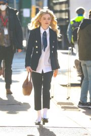 Emily Alyn Lind on the Set of Gossip Girl in New York 11/24/2020 4