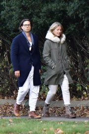 Gwyneth Paltrow and Brad Falchuk walks Out in New York 11/29/2020 7
