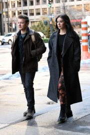 Hailee Steinfeld and Jeremy Renner on the Set of Hawkeye in New York 12/06/2020 5