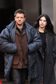 Hailee Steinfeld and Jeremy Renner on the Set of Hawkeye in New York 12/06/2020 12