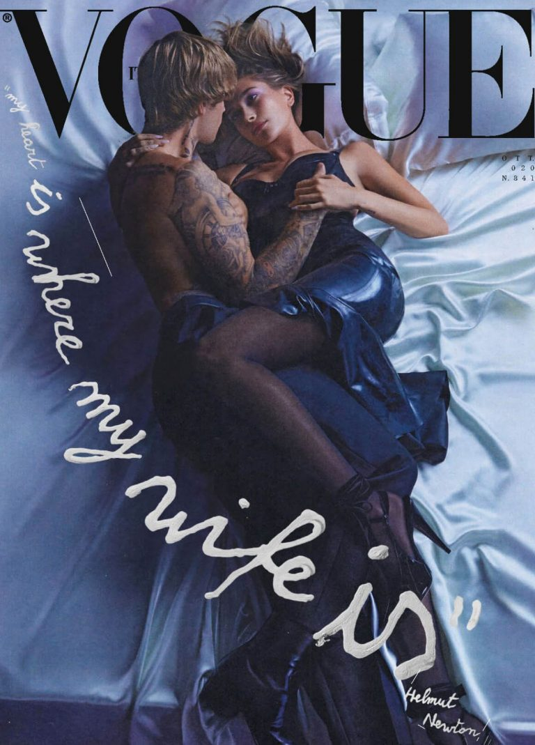 Hailey Rhode and Justin Bieber Cover for VOGUE Italia Magazine, October 2020 11