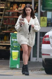 Imogen Thomas flashes her beautiful legs at a Gas Station in London 11/24/2020 4