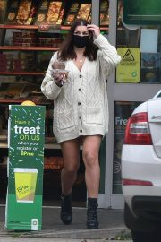 Imogen Thomas flashes her beautiful legs at a Gas Station in London 11/24/2020 5