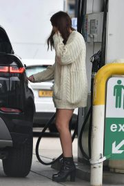 Imogen Thomas flashes her beautiful legs at a Gas Station in London 11/24/2020 7