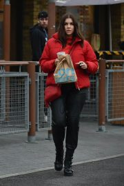 Imogen Thomas seen in Red Puffer Jacket at McDonalds in Chelsea 12/03/2020 4