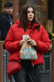 Imogen Thomas seen in Red Puffer Jacket at McDonalds in Chelsea 12/03/2020 6
