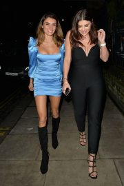 Imogen Thomas with Friends at Jak's Restaurant and Bar in London 12/04/2020 1