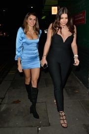 Imogen Thomas with Friends at Jak's Restaurant and Bar in London 12/04/2020 3