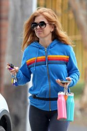 Isla Fisher with her husband Sacha Baron Cohen Out for Breakfast in Sydney 11/24/2020 2
