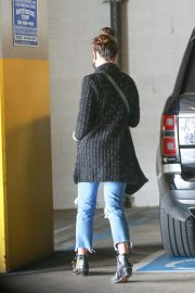 Jordana Brewster seen in Ripped Jeans Leaves a Vet Clinic in Westwood 11/25/2020 3