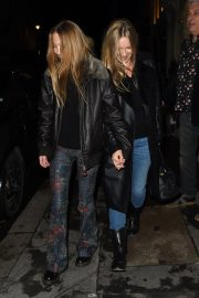 Kate Moss and Lila Grace Moss Sisters Night Out in Mayfair 12/04/2020 2