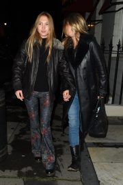 Kate Moss and Lila Grace Moss Sisters Night Out in Mayfair 12/04/2020 6
