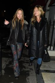 Kate Moss and Lila Grace Moss Sisters Night Out in Mayfair 12/04/2020 7